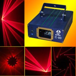 Wholesale Single Beam Laser Lights - C-80 650nm 200mw Single Red Stage Laser Light Projector Delicate Design Multi-Patterns Laser Gun Coarse Spot of Single Beam Laser Gun Effect