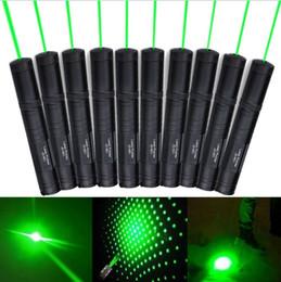 Wholesale Laser Pen Stars - 10PCS Green Lazer JD 851 Green Laser Pointer Pen Long Range 1000 Meters Green Puntero Laserpointer Caneta Laser Verde +Star Cap