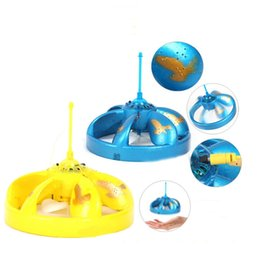 Wholesale Ufo Aircraft Toy - Magic Hand Induction Floating UFO Saucer Aircraft Flash Remote Control Helicopter Frisbee Toys 4 Colors Free DHL