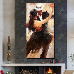 Danza latina Home Decor Wall Art Painting Immagine fatta a mano sul muro Abstract Knife Oil Painting on Canvas No Framed da
