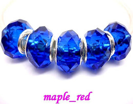 Wholesale Crystals For Low Price - 50pcs Lot Royal Blue Faceted Crystal Beads for Jewelry Making Loose Charms DIY Beads for Bracelet Wholesale in Bulk Low Price