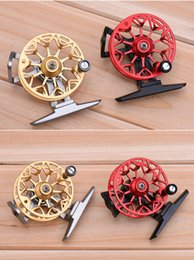 Wholesale Cnc Machined Fly Reel - Full metal ultra-light former ice fishing Reels wheel fly fishing reel CNC Machined Aluminum