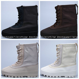 Wholesale Mid Heel Thigh High Boots - 2016 New 950 Boost Moonrock Pirate Black Boots For Women Men Kanye West Shoes Classic Sports Fashion Casual Boost 950 Sneaker 36-46