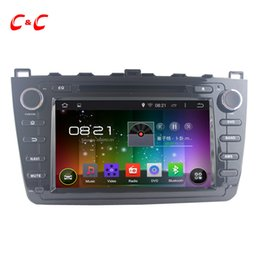 Wholesale Mazda Android Radio - Quad Core Android 5.1.1 Car DVD Player for Mazda 6 with Radio GPS Navi Wifi DVR Mirror Link SWC+Three Free Gifts