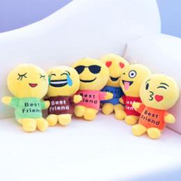 juguetes educativos de tela Rebajas Peluche Emoji Juguete para niños 6 Estilos Emoji Set Juguetes de peluche Regalo Regalo para niños Set 12 cm Juguetes de peluche Emoji Set de regalo