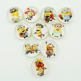 Wholesale Bracelet Minion - Hot sale Beauty NB0399 Minions Mixed 18MM Photo Glass cabochon Ginger snap buttons for DIY ginger snap jewelry bracelet Accessories