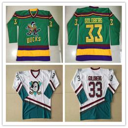 2019 estoque de pato 33 Greg Goldberg 96 Charlie Conway 99 Adam Bancos 66 Gordon Bombay 1996-06 Anaheim Mighty Ducks Barato Hóquei Jerseys Em Estoque