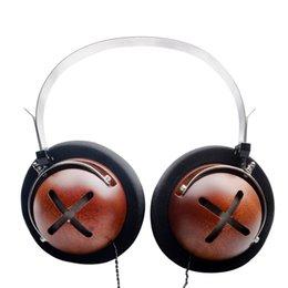 Wholesale Wooden Headphones - OKCSC HIgh Quality Wooden Headset Noise Cancelling DJ HiFi Headphones Headband Earphones For Sport Galaxy HTC