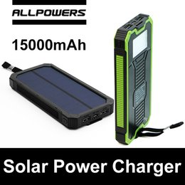 Wholesale Dragon Power - Allpowers X-DRAGON XD-S15000 15000mAh Solar Power Charger Battery Solar Panel Waterproof Shockproof Dustproof Portable Power Bank Double USB