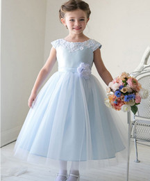 Wholesale Online Kids Dresses - Lovely Flower Girls' Dresses Online Kids Formal Wear Various Colors Vestidos de Flores Custom Made 2016
