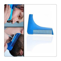 hair cut manual Promo Codes - Wholesale Beard Bro Beard Shaping Tool Perfect Lines Hair Trimmer for Men Trim Template Hair Cut Gentleman Modelling Comb Beard Modelling