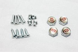 Wholesale Car License Plate Anti - High Quality Auto Stainless steel Car License Plate Bolts Frame Chrome Screws for KIA