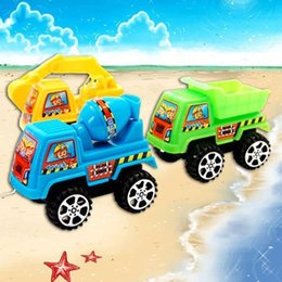 Wholesale Wholesale Modle Cars - New Crane Excavator Autotruck Agitating Lorry Kids Plastic Toys Pull Back To Toy Car Truck Engineering Construction Car Modle