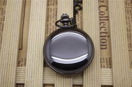 Wholesale Pocket Watch 47mm - wholesale 47MM dial mens women polish necklace chain pocket watch ladies students quartz polishing gift Bronze vintage watches