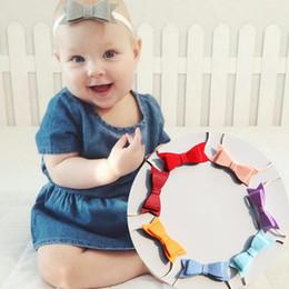 Wholesale Felt Hair Bands - Wholesale 20pcs Fashion Cute Felt Bowknot Soft Headband Solid Kawaii Princess Bow Infant Toddler Head Band Headware