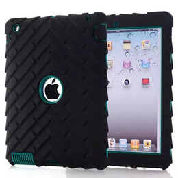 Wholesale Safe Tire - Hot Tire profile New Version Hybrid Armor Silicon Hard PC Shockproof Dustproof Safe Case Cover For Skin iPad 2 3 4 Shell