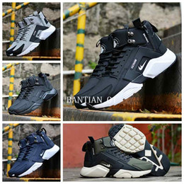 Wholesale High Top Flat - 2017 New Air Huarache 6 X Acronym City MID Leather High Top Huaraches Running Shoes Men Women huraches Sneakers Hurache Zapatos Size 7-11