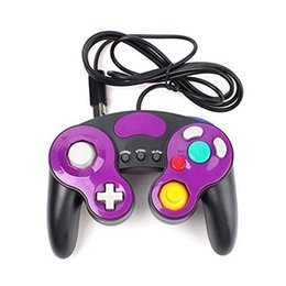 Wholesale Gamecube Consoles - Game Controller NGC Wired Gaming Game Controller Gamepad For NGC Nintendo Console Gamecube Wii U Extension Cable Cord Q2 Gaming Controllers