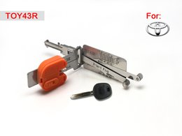 Wholesale Lock For Toyota - Smart TOY43R 2 in 1 auto pick and decoder locksmith lock pick tool for toyota