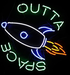 """Wholesale Space Bar - New Outta Space Glass Neon Sign Light Beer Bar Pub Sign Arts Crafts Gifts Lighting Size: 26"""""""
