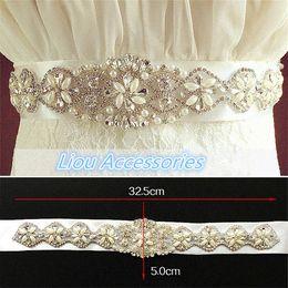 Exquise Artificielle Ceintures Cristal Strass Perles Perles Tchèque Tailles Robe De Mariée Sash Formelle De Mariage Robe De Soirée Ceintures ? partir de fabricateur