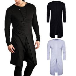 Wholesale Long Shirt Trend Men - New Fashion Brand O-Neck Slim Fit Long Sleeve T-Shirt Men Trend Casual Men long t shirt Hip hop StreetWear D098