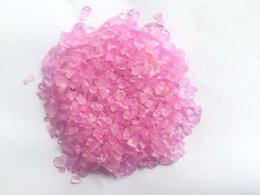 Wholesale Pink Gravel - 100g pink dyed clear chips stone tumbled gravel Clear Polished clastic rock Healing Specimen Natural Stones Minerals Quartz Crystals Gift