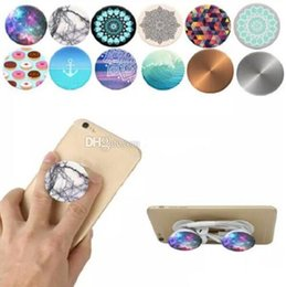 Wholesale Cell Phone Finger - Universal Cell Phone Holder with blue Package Expandable Grip Stand 360 Degree Finger Holder Flexible For iPhone Samsung
