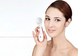 Wholesale Ionic Cleans - Fashion Electronic Ultrasonic Galvanic Ionic Deep Pore Skin Care Facial Cleaner Massager Anti-wrinkle Vibration Beauty Massager