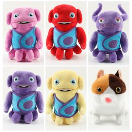 Wholesale Alien Comic - New 2015 Dreamworks Movie HOME OH Boov Alien Stuffed Plush Doll Toys 5pcs 20cm Captain Figure Toys Cartoon HOME Plush In stock 2010