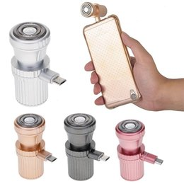 Wholesale Iphone Mini Power - Mini Travel Size Micro USB Powered Electric Razor Shaving Machine Rotary Shaver For Iphone Android Sumsang Galaxy