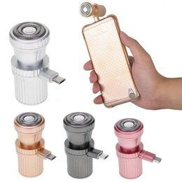 Canada Mini rasoir rotatif électrique de rasoir de machine de rasage actionné par mini USB de taille de voyage pour Iphone / Android Sumsang Galaxie cheap electric razor travel shaver Offre