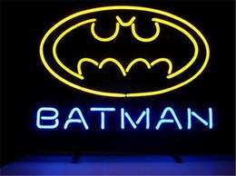 Wholesale Batman Display - NEON SIGN NEW BATMAN SUPERHERO COMIC Custom Store Display Beer Bar Pub Club Lights Signs Shop Decorate Real Glass Tube Bulbs