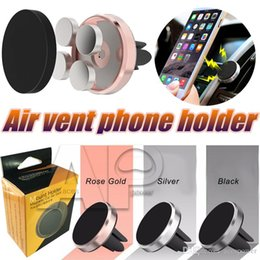 Wholesale Plus Equipment - Mount Holder Magnetic Car Air Vent Phone Holders Bracket Universal Holders Hand Mobile Holder For iPhone7 Samsung S8 Plus Equipment Cars