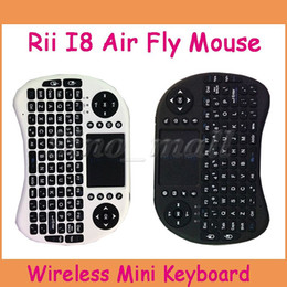 Wholesale Android Cable Remote - Handheld Wireless Mini Air Fly Mouse RII I8 Portable With USB Cable Remote Control For Android TV Box
