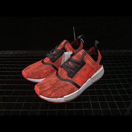 """Wholesale Apple Canvas - NMD R1 PK """"RED APPLE"""" Men Sneakers NYC PrimeKnit Trainings Women Running Shoes Real boost BY1905"""