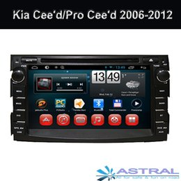 Wholesale Capacitive Android Double Din - Double din car dvd gps navigation with android capacitive touch screen car stereo with gps wifi 3g for Kia Ceed