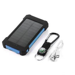 Wholesale Tablet Solar Ipad - [8000mah Solar Charger with LED Flashlight] Dual USB Port Solar Portable Phone Charger Power Bank for CellPhones iPad Tablet Cameras,
