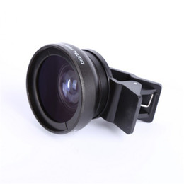 Wholesale 37mm Wide - 0.45X Super Wide Angle Lenses Macro Mobile Lens 37mm Digital High Definition for iphone 6 5s xiaomi redmi note 3 pro 2 camera