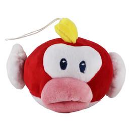 Wholesale Fishing Set Toy - 5pcs set 16cm Super Mario Bros Flying Fish Plush Stuffed Dolls Plush Toys With Keychain Style Rope
