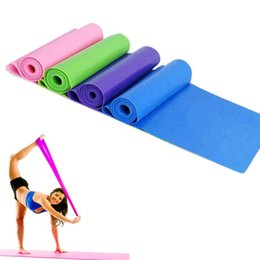 Wholesale Tpe Belts - New 1.5M*15CM*0.35MM TPE TPR Yoga Band Elastic Fitness Training Band Plates Resistance Bands Yoga Expansion Band Exercise Belt 2502064