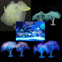 Wholesale Silicone Fish Plant - 7CM Luminous Silicone Artificial Fish Tank Aquarium Coral Plant Ornament Water Decoration