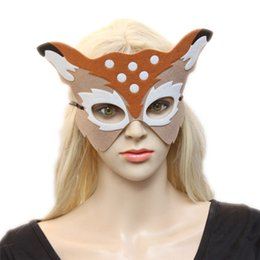 Wholesale Toys For Mens - Christmas Party Mens Masquerade Masks Cartoon Animal Half Face Mask for Halloween Cosplay Mask Party Decoration Toys