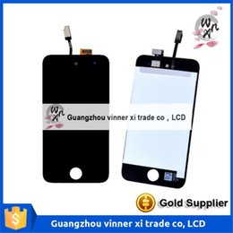 Wholesale Touch 4th Lcd Display - White Blcak Case For ipod Touch 4 4th 4G LCD Display Touch Screen with Digitizer Assembly ,Free Shipping