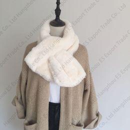 Wholesale Thick Plush Scarf - Fur Plush Imitation Rex Rabbit Hair Scarves Female Autumn And Winter Thick Shawl Fake Collar Fur Collar 90x20cm 5 Colors