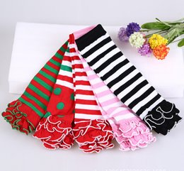 Wholesale Girls Legs Stockings - 2016 Hot Baby Leg Warmers Striped Kids Leg Warmers Girls Stocking Leg boot cuff Christmas gift