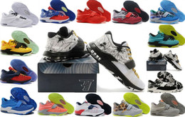 Wholesale Men Kd Shoe Cheap - Cheap Wholesale Kevin Durant KD 7 Men Basketball Shoes Sports Shoes 100% High Quality Mens KD 7 Sneakers Men Retro 7-11-13 Basketball Shoes