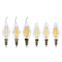 Wholesale Led Candelabra E12 - Led Candelabra Bulb Base LED Filament Flame Vintage Candle Light Bulb For Home,Kitchen,Dining Room,Bedroom,Living Room,2W 4W 6W