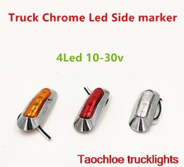 Wholesale Caravan Kits - 2x truck LED Side Marker lights Clearance tail Lamp 12V 24V external lights Car Truck Trailer Rear Lights caravan Parking light