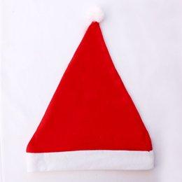 Wholesale Cheap Hat Decorations - 216 Wholesale merry christmas non woven santa clause christmas father's hat cheap christmas hat 60pc lot